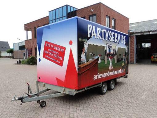 Aanhangwagenzeil full colour voor partyservice