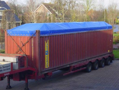 Afdekzeil open top container (maatwerk)
