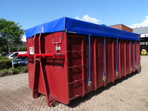Rolzeil op containerbak