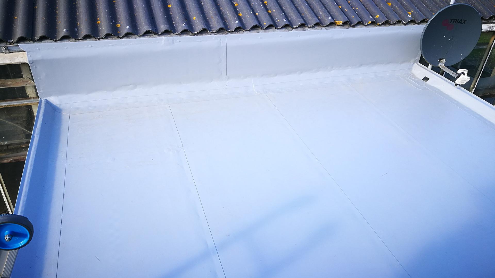 Renovatie dakbedekking op aanbouw Bruchem