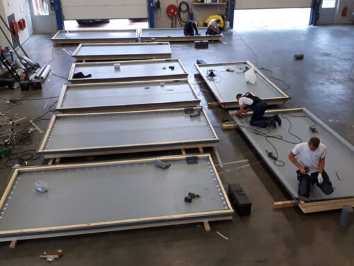 PVC dakbedekking op dakkapellen
