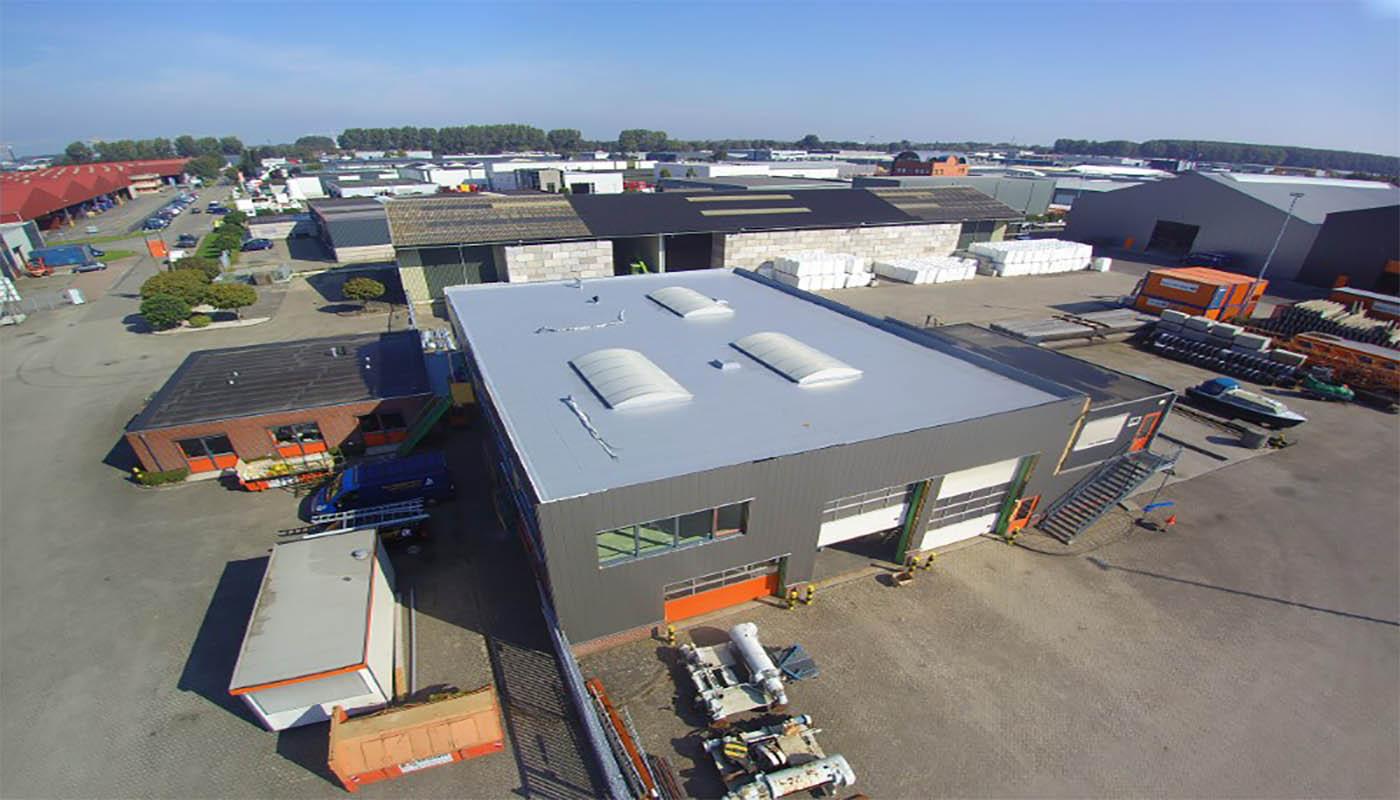 PVC dakbedekking op nieuwbouw Biesbosch opslag